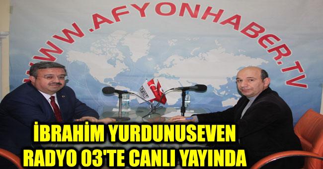 İBRAHİM YURDUNUSEVEN RADYO 03'TE CANLI YAYINDA