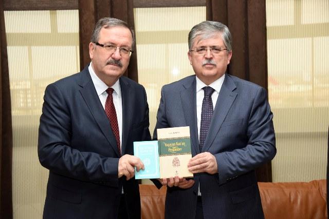 REKTÖR SOLAK MÜFTÜ KABUKÇU'YU KABUL ETTİ
