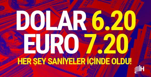 ŞOK ÜSTÜNE ŞOK; DOLAR 6.20, EURO 7.20'Yİ GÖRDÜ
