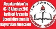 2017-2018 YILI ÜCRETLİ ÖĞRETMENLİK BAŞVURULARI YAPILACAK