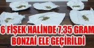 6 FİŞEK HALİNDE 7,35 GRAM BONZAİ ELE GEÇİRİLDİ