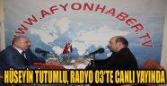 HÜSEYİN TUTUMLU, RADYO 03'TE CANLI YAYINDA