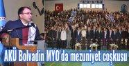 AKÜ BOLVADİN MYO'DA MEZUNİYET COŞKUSU