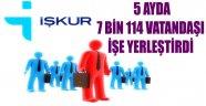 İŞKUR 5 AYDA 7 BİN 114 VATANDAŞI İŞE YERLEŞTİRDİ
