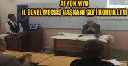 AFYON MYO İL GENEL MECLİS BAŞKANI SEL'İ KONUK ETTİ