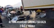 Afyonkarahisar'da trafik kazası: 2 ölü, 2 yaralı