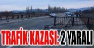 AFYONKARAHİSAR'DA TRAFİK KAZASI: 2 YARALI