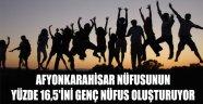 AFYONKARAHİSAR NÜFUSUNUN YÜZDE 16,5'İNİ GENÇ NÜFUS OLUŞTURUYOR