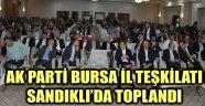 AK PARTİ BURSA İL TEŞKİLATI SANDIKLI'DA TOPLANDI