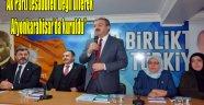 """""""Ak Parti tesadüfen değil bilerek Afyonkarahisar'da kuruldu"""""""