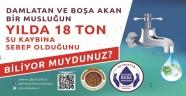 BELEDİYE'DEN SU TASARRUFU ÇAĞRISI