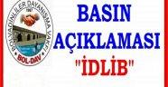 BOLDAV: İDLİB'DEKİ KİMYASAL SALDIRI'YI ŞİDDETLE KINIYORUZ.!