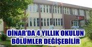 DİNAR'DA 4 YILLIK OKULUN BÖLÜMLER DEĞİŞEBİLİR