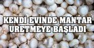 DİNAR'DA KENDİ EVİNDE BEYAZ MANTAR ÜRETİYOR