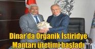 DİNAR'DA ORGANİK İSTİRİDYE MANTARI ÜRETİMİ BAŞLADI