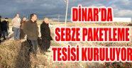 DİNAR'DA SEBZE PAKETLEME TESİSİ KURULUYOR