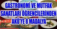 GASTRONOMİ VE MUTFAK SANATLARI ÖĞRENCİLERİNDEN AKÜ'YE 8 MADALYA