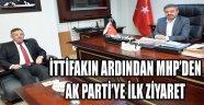 İTTİFAKIN ARDINDAN MHP'DEN AK PARTİ'YE İLK ZİYARET