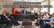 ŞUHUT OSB TOPLANTISI VALİ TUTULMAZ'IN BAŞKANLIĞINDA YAPILDI.