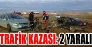 TRAFİK KAZASI: 2 YARALI