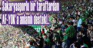 TRİBÜNLER NE TATANGASIZ, NE AF-YOKSUZ OLUR, DESTEĞE DEVAM EDİN!..