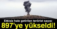 TSK: ETKİSİZ HALE GETİRİLEN TERÖRİST SAYISI 897'YE YÜKSELDİ