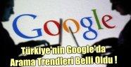 TÜRKİYE'NİN GOOGLE'DA ARAMA TRENDLERİ BELLİ OLDU !