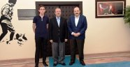 YÖK BAŞKANI PROF. DR. SARAÇ'TAN REKTÖR SOLAK'A ZİYARET