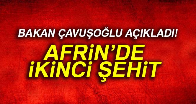 AFRİN'DE 1 ŞEHİDİMİZ DAHA VAR