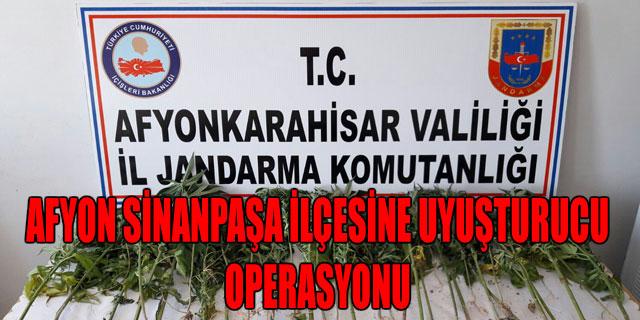 AFYON SİNANPAŞA İLÇESİNE UYUŞTURUCU OPERASYONU